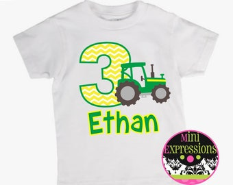Birthday Tractor shirt Personalized