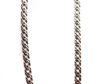 Men's thick silver chain necklace, ropeSilver chain Unisex Jewelry,Gift for him,Tribal jewellery,handmade link chain Helical link