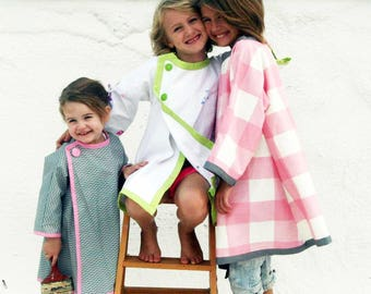 Girls Art Smock Coat Dress PDF Sewing Pattern - The Frenchy Art Smock