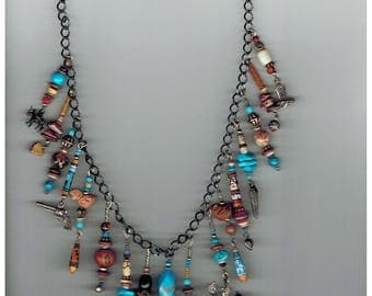 Peruvian bead and charm Necklace
