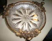 Vintage Stunning French Chic Roses/Cherubs Footed Filigree Boudoir/Vanity Soap Dish Glam.