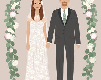 Custom couple portrait Save The Date