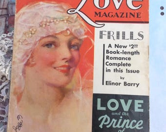 Vintage December 1929 The Love Magazine 128 Pages Beautiful Graphics Advertising Articles Love And The Prince Of Wales & Many More