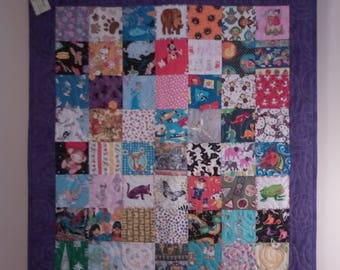 I Spy Quilt, Child's Quilt, Crib Quilt, Quilted Wall Hanging, Toddler Quilt, Cot Quilt
