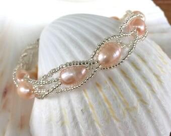 Beaded Pearl Bracelet