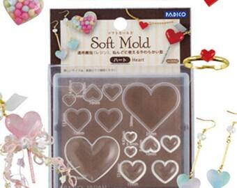 Padico heart shape mold/Heart shape flexible mold/Heart shape resin mold/Heart shape DIY jewelry mold/Padico jewelry mold