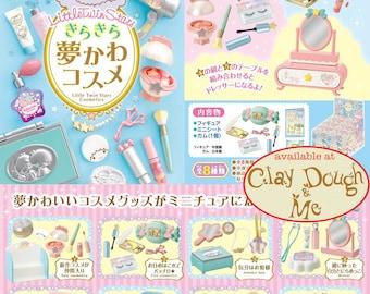 CLAYDOUGH&ME Re-ment Little Twin Stars Cosmetics,Re-ment Sanrio Little Twin Stars Cosmetics,Rement Sanrio Kiki Lala Cosmetics
