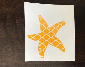 Decorative Starfish Vinyl Decal Sticker