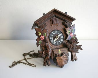 German Flower Cuckoo Clock