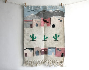 Mexican Village Tapestry
