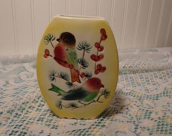 Vintage Porcelain Wall Vase - Wall Pocket for Flowers - 17-498