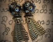 Artisan earrings #39....tribal bling earrings