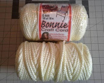 Bonnie Craft Cord, Macrame Cord, Ivory Color, 6MM, Over 150 Yards