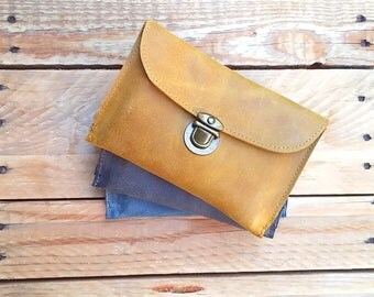 Yellow leather wallet woman, leather woman wallet, wallet leather woman, women leather wallet travel wallet Wallet Phone Case Wallet for her