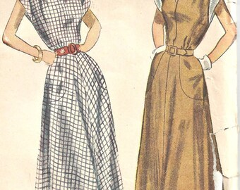 1940's Simplicity 2792 Pattern Womens Dress Size 12 Bust 30