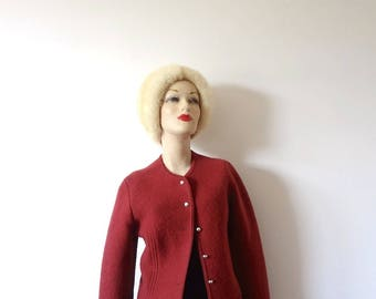 Vintage GEIGER Sweater - boiled wool cardigan from Austria