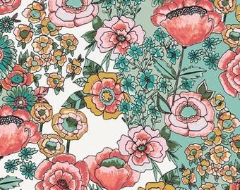 Shabby Chic Baby Girl Nursery, Modern Farmhouse, Woodland Nursery, Flower Shower Subtle, WILD BLOOM, Bari J,Art Gallery Fabrics By the Yard