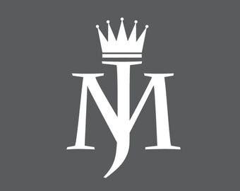 Michael Jackson King of Pop logo decal / sticker