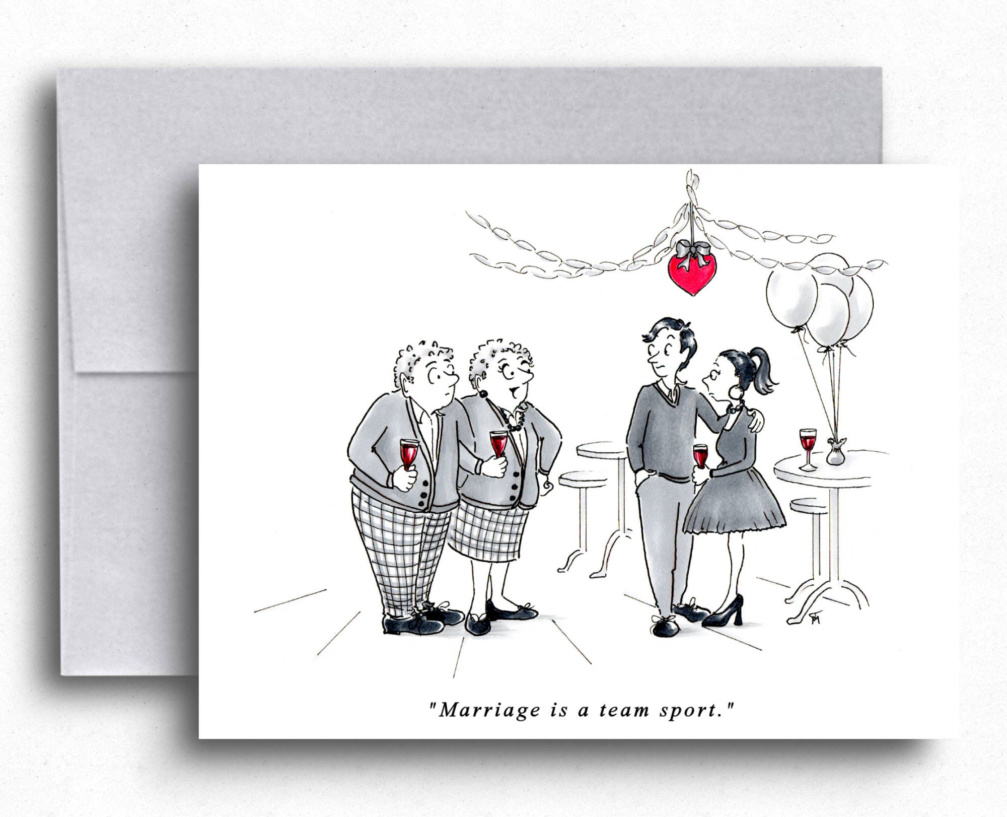 Marriage Advice Funny Cartoons Greeting Cards Couples That