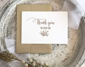 MC Thank You Card - Wedding MC Card - MC Gift - Wedding Master Of Ceremonies Card - Wedding Party Gift - Wedding Cards - Wedding Party Cards