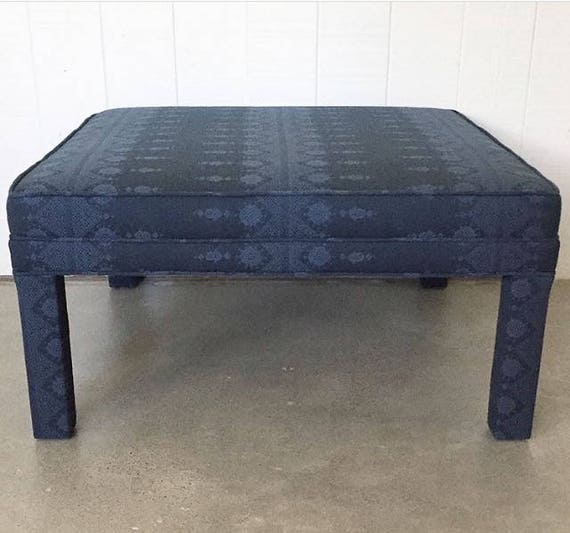 Large Coffee Table/Ottoman - Parson's Style - Fully Upholstered - Design Your Own