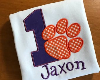 Clemson Tiger Inspired Birthday Shirt, More numbers available