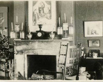"Vintage Photo ""Waiting for Santa"" Snapshot Antique Black & White Photograph Found Paper Ephemera Vernacular Interior Design Mood - 45"
