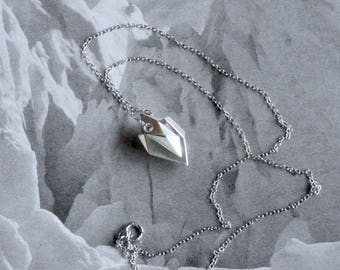 "Iceberg Pendant (larger, iconic) - ""Ode to Ice"" - Sterling Silver - Climate Change, Environmental Jewelry"