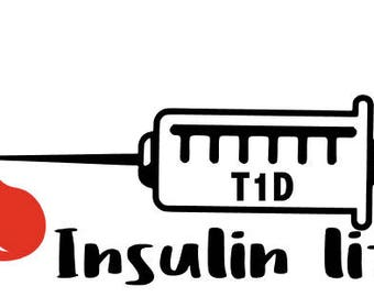 T1D! Type 1 diabetes car decal