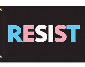 Transgender RESIST Flag, 3x2 or 5x3
