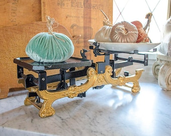 Rare Antique FRENCH Balance Scale, Cast Iron, Country Store
