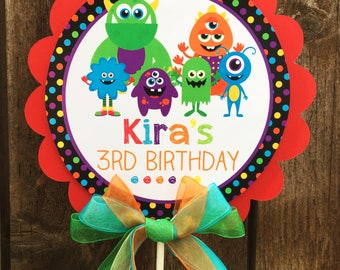 Centerpiece, Monster Bash Personalized Centerpiece, Birthday, Baby Shower, Photo Prop, Table Centerpiece, Baseball Centerpiece, Monsters