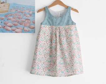 Girls dresses, cotton dress, girls summer dresses, little girl dresses, girls sundress. Sustainable clothing, made in Italy. Ready to ship.