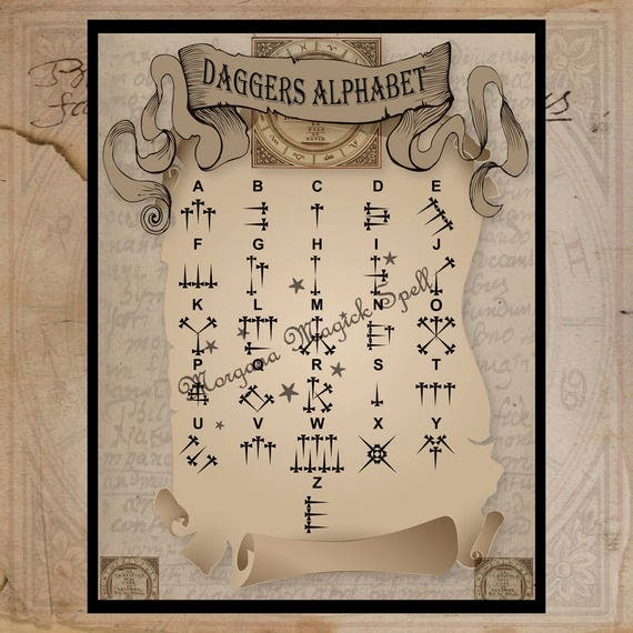 Daggers Alphabet