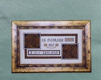 Cross Stitch Pattern  IRELAND   IRISH SAMPLER   The Sunflower Seed   Counted Cross Stitch   Chartpack