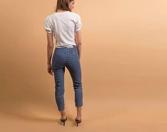 80s Skinny Jeans / Vintage 80s High-Waist Jeans / Slim Jeans / High-Waist Denim / Crop Jeans Δ size: XS/S