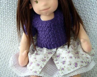 "CUSTOM Waldorf doll for 2018, natural fiber art doll, Waldorf inspired doll, 16"", handmade Waldorf doll, organic Waldorf doll, DEPOSIT ONLY!"