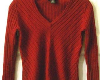 Banana Republic Merino Wool V Neck Sweater, S