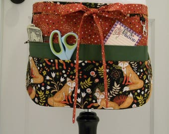 Teacher Aprons-Crafter Vendor Utility Apron-Autumnal Fox