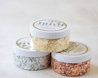 Gilding Foil Flakes - 6.8 oz - Gold / Copper (Rose Gold) / Silver