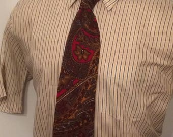 Vintage MENS Ruffler by Rooster paisley wool tie