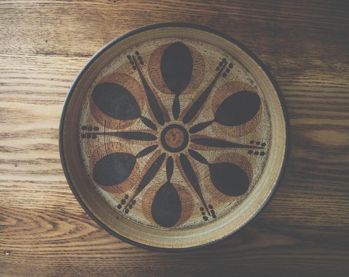 Mid Century Studio Pottery Tray // Sgrafo Modern // Vintage Bar Cart Tray