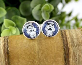 Stormtrooper Cufflinks - Gift for Him - Wedding Accessories - Grooms Gift Idea - Father's Day Gift - Movie Cufflinks - Star Wars Cufflinks