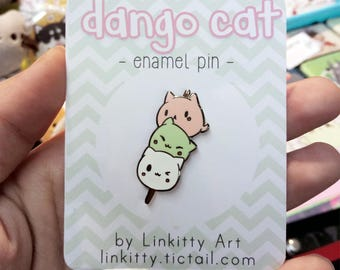 Dango cat - kawaii enamel pin