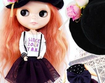 Clearance Sale - YAN - Purple Skirt Set for Blythe doll