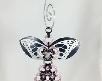 Fairy Ornament, Faerie Decoration, Christmas Ornament, Chainmaille Ornament, Unique Ornament, Small Metal Decor, Fairy Gift for Her