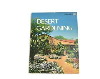 Vintage Desert Gardening Book Mid Century Modern Landscaping Book Desert Landscaping Book Cacti Book Cactus Gardening Book