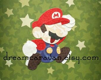 MARIO Super Nintendo Plumber Video Game Hero Paper Art Ready to Ship