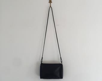 Vintage 80's Lord & Taylor Black Buttery Soft Leather Shoulder Bag