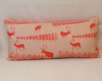 Reindeer forest cushion